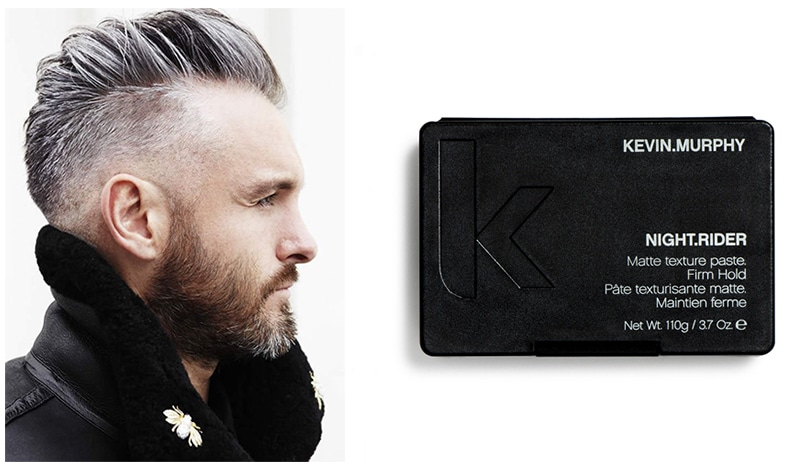 "If you want to take it to the next level, prep your hair with ""HAIR. - long-night-rider-kevin-Murphy"