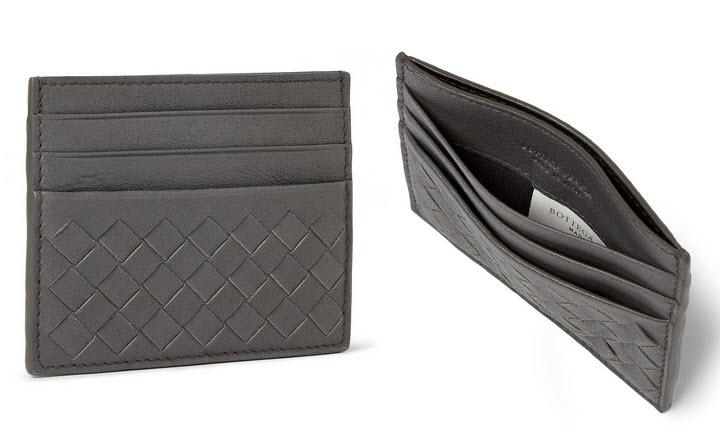 Intrecciato leather card holder Bottega Veneta 3spG6wB