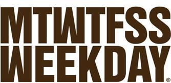 Mtwfss weekday