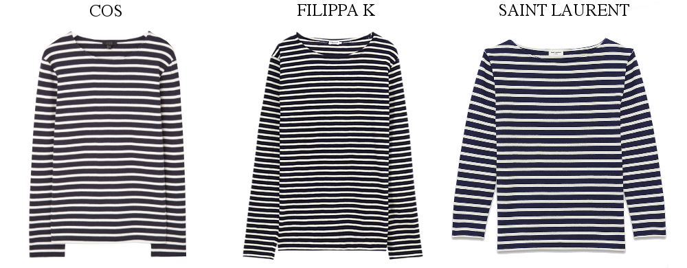 COS YSL Filippa K Stripes