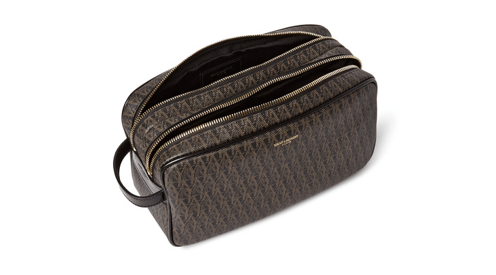 Leather Trimmed Coated Canvas Wash Bag, Saint Laurent - € 425.00 at Mr Porter