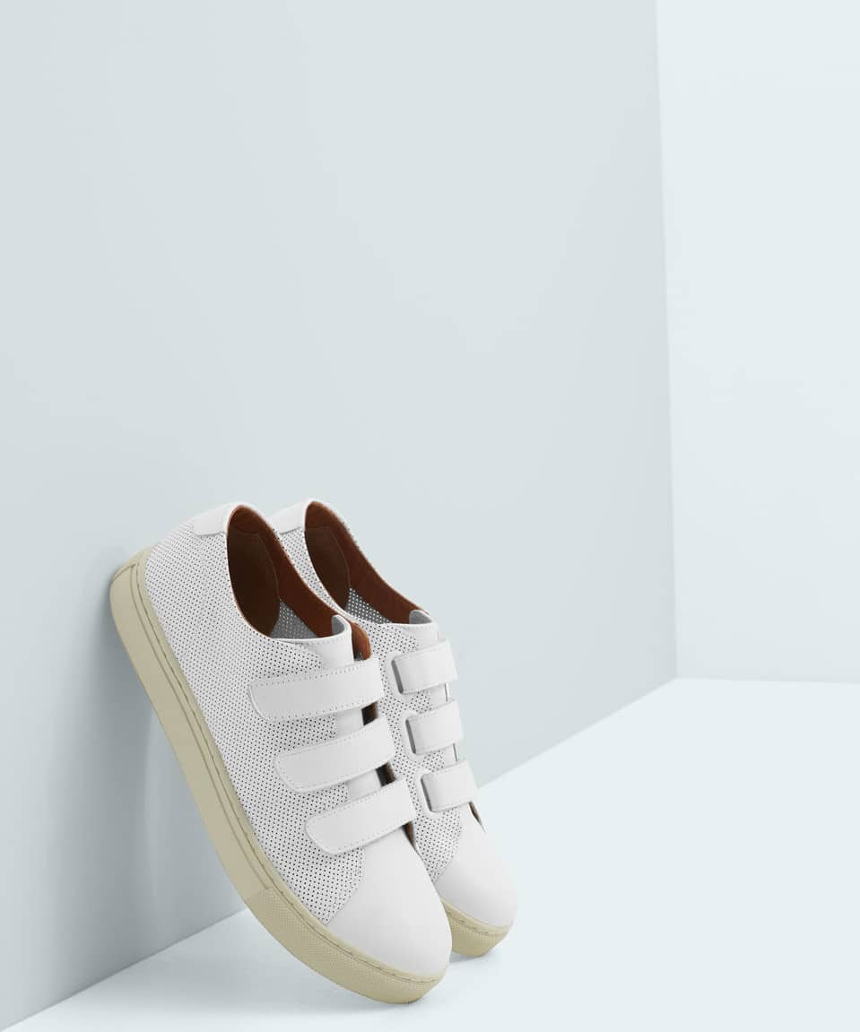 Mango white sneakers